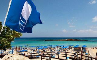 Голубой флаг снова развевается в Ларнаке в этом году